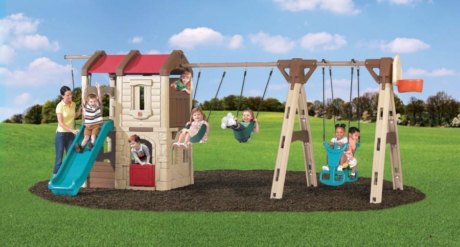 aeccad45e3e Naturally Playful® seiklusonni ja kiik-laevaga mängukeskus