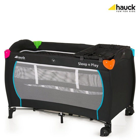hauck reisivoodi sleep n play multicolor black. Black Bedroom Furniture Sets. Home Design Ideas