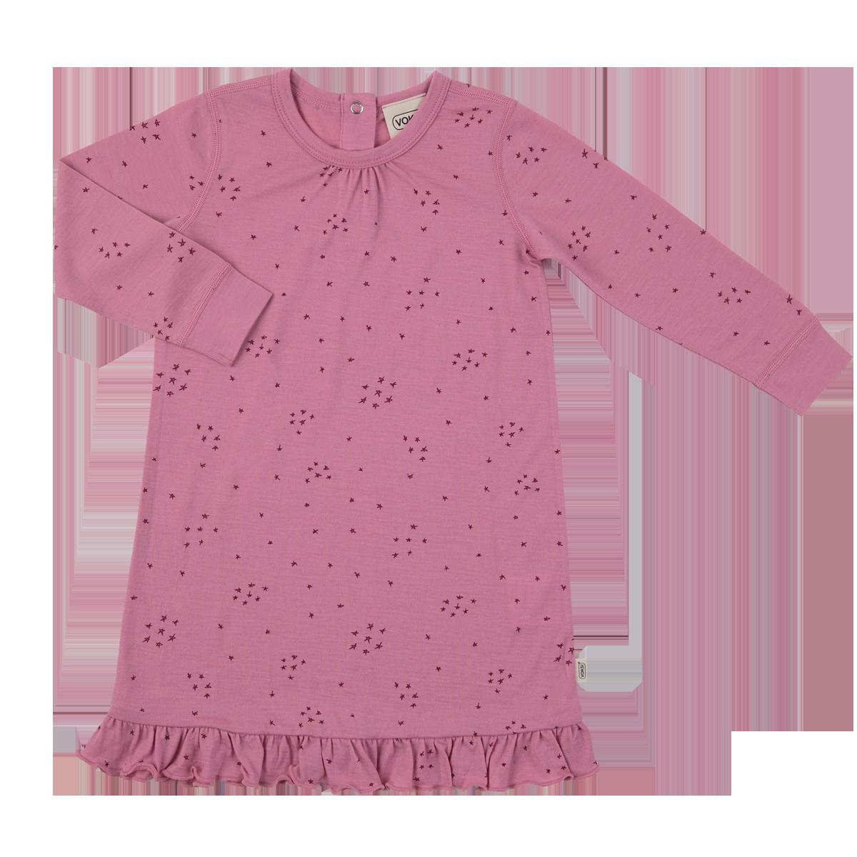 Voksi meriinovillane kleit Star roosa