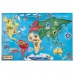 Melissa & Doug põrandapusle Maailmakaardi mõistatus