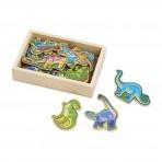 Melissa & Doug puidust magneetiline mäng Dinosaurused