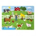 Melissa & Doug puidust helisev pusle Farm