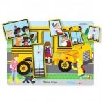 Melissa & Doug puidust helisev pusle Buss