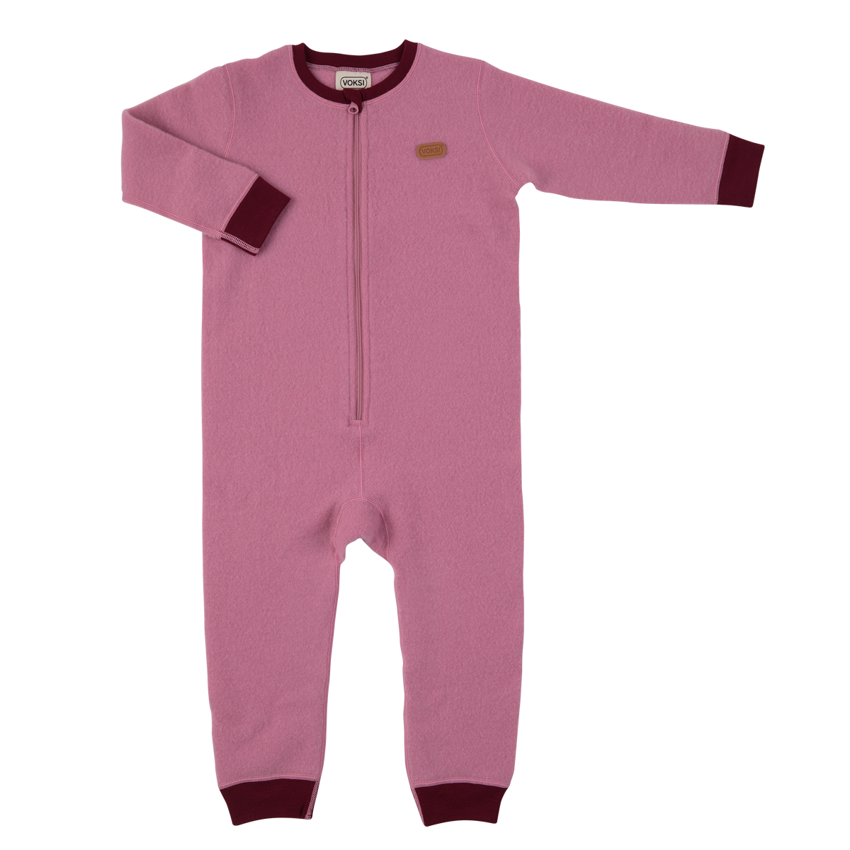 Voksi  meriinovillane jumpsuit  Double Fleece roosa