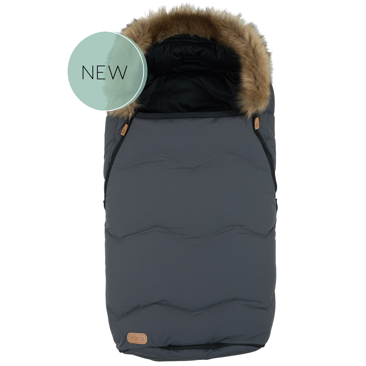 Voksi soojakott Urban karusnahkse kraega Grey 2019