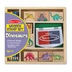 Melissa & Doug puidust templite komplekt Dinosaurused