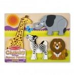 Melissa & Doug puidust pusle Safari