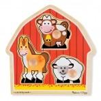 Melissa & Doug puidust nuppudega pusle Loomad