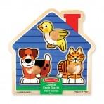 Melissa & Doug puidust nuppudega pusle Lemmikoomade maja