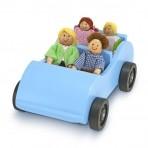 Melissa & Doug puidust auto ja reisijad