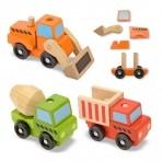 Melissa & Doug puidust Ehitussõidukid