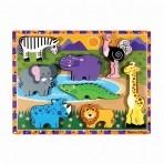 Melissa & Doug  puidust pusle Safari mõistatus