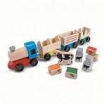 Melissa & Doug Puidust talurongide mänguasjade komplekt