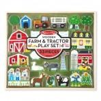 Melissa & Doug  Puidust talu ja traktori mängukomplekt