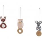 Kids Concept puidust riputatavad mänguasjad Edvin komplekt mängukaarele