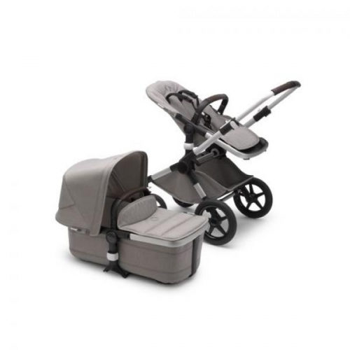 Bugaboo Fox2 2in1 vankrikomplekt  Mineral Complite Alumiinium  Light Grey