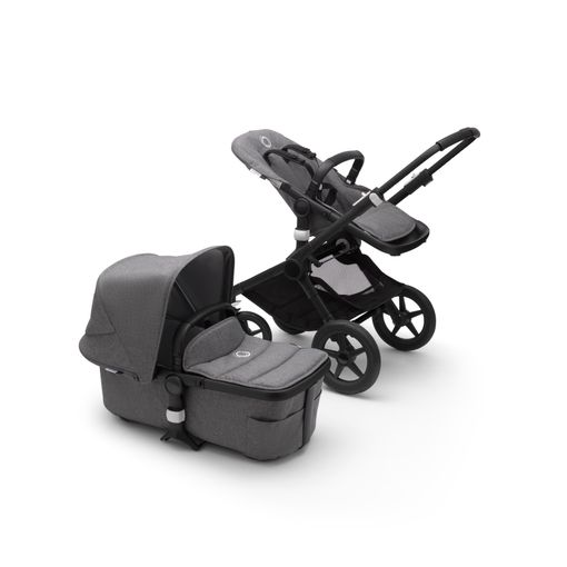 Bugaboo Fox2 2in1 vankrikomplekt  Black Grey Melange