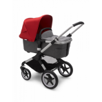 Bugaboo Fox2 2in1 vankrikomplekt  Alumiinium Grey Melange Red