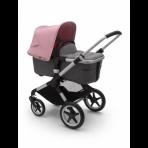 Bugaboo Fox2 2in1 vankrikomplekt  Alumiinium Grey Melange Soft Pink