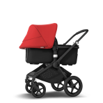 Bugaboo Fox2 2in1 vankrikomplekt  Black Black Red
