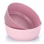 Reer Söögikauss 2tk. taaskasutatvast materjalist roosa