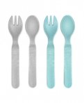 Reer lusikas/kahvel 4tk. taaskasutatvast materjalist sinine/hall