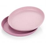 Reer Söögtaldrik 2tk. taaskasutatvast materjalist roosa