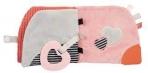 Krõbisev ja näritav roosa beebitegelusraamat Karuke