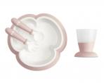 BabyBjörn sööginõude komplekt Feeding Powder Pink