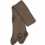 GoBabyGo libisemiskindlad stopperitega villased sukkpüksid Brown Melange