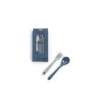 SmallStuff lusikas ja kahvel hall+sinine