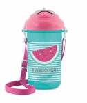 Canpol Babies tass klappkaane ja silikoonkõrrega So Cool! 400ml roosa