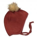 Mikk-line soe merino müts tuttkõrv brown