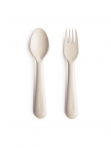 Mushie kahvel ja lusikas Ivory