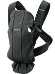 BabyBjörn Mini kandekott Charcoal Grey Jersey