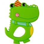 Närimisrõngas roheline krokodill