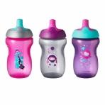TOMMEE TIPPEE joogipudelid tüdrukutele 12kuud+ 3tk
