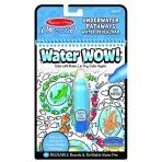 Melissa & Doug veepliiatsiga värviraamat Veemaailm