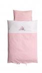 BabyDan voodipesukomplekt Love Birds Pink