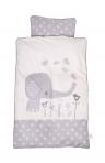BabyDan voodipesukomplekt Elefantastic Grey