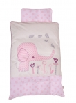 BabyDan voodipesukomplekt Elefantastic Pink