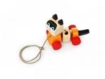 Puidust mänguasi ratastel Kass