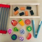 Arendav puidust mäng laste komplekt
