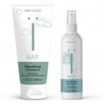 NAÏF juuksehoolduse kombo lastele šampoon 200ml + niisutav pusasprei 150ml