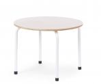 Childhome puidust naturaalne laud, valgete metalljalgadega