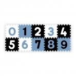 BabyOno puslematt numbrid 10-osa sinine