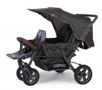Childhome kolmikute jalutuskäru+vihmakate+ päikesevari- Anthracite
