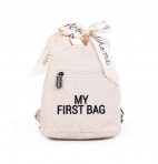 Childhome väikelapse seljakott My First Bag Teddy Offwhite