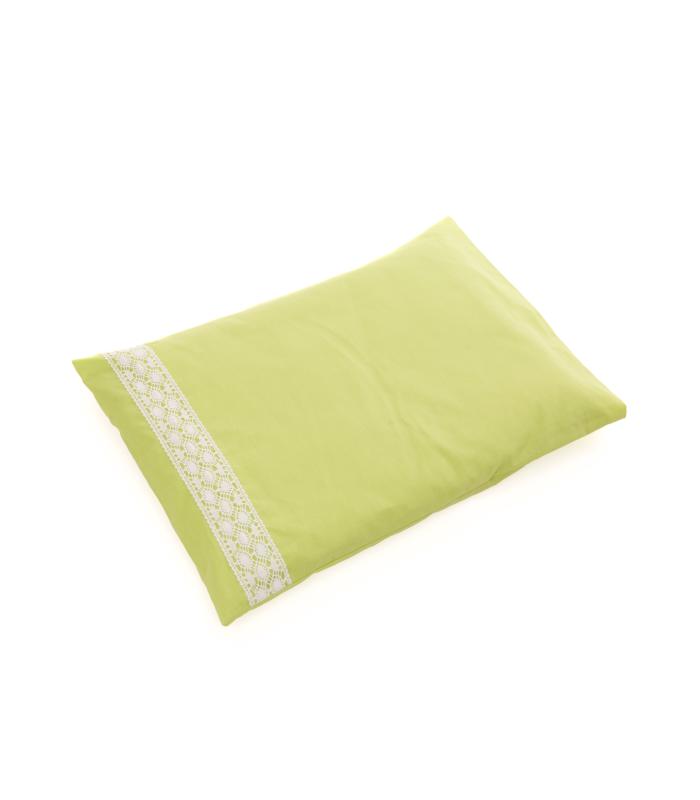 Laste padjapüür pitsisga roheline, suuruse valik