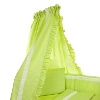 Beebi voodikardin pitsiga, roheline